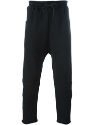Amen Cropped Track Pants Black
