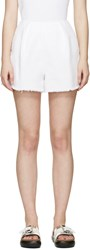 Edit White Denim Shorts