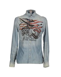 Galliano Denim Denim Shirts Men