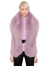 Versace Fox Fur Stole With Leather Belt