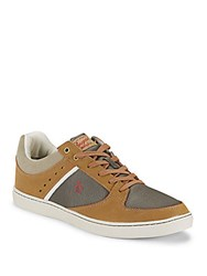 Original Penguin Leather Blend Lace Up Sneakers Tan