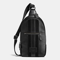 Coach Campus Pack Rip And Repair With Varsity Stripe Black Antique Nickel Black
