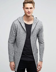 Only And Sons Only And Sons Open Cardigan With Hood Light Grey Marl