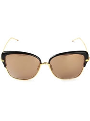 Thom Browne Oversized Square Frame Sunglasses Metallic