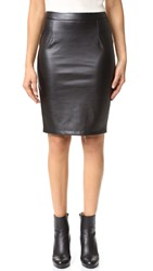 Cupcakes And Cashmere Jasper Vegan Leather Pencil Skirt Black