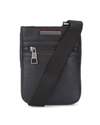 Tommy Hilfiger Black Grained Pu Essential Mini Flat Bag