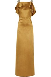 Raoul Cutout Embellished Satin Gown Camel