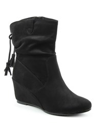 Daniel Storking Wedges Ankle Boots Black