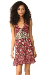 Just Cavalli Baby Cat Print Dress Red Variant