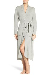 Lauren Ralph Lauren Women's 'Ballet' Knit Cotton Blend Robe Heather Grey