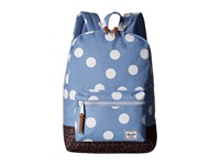 Herschel Settlement Youth Chambray White Polka Dot Backpack Bags