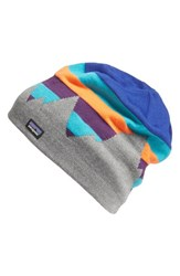 Patagonia Women's Knit Beanie Blue Fitz Formation Harvest Moon