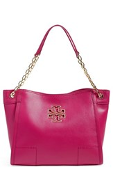 Tory Burch 'Small Britten' Leather Slouchy Tote