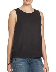 1.State Lace Up Tank Top Black