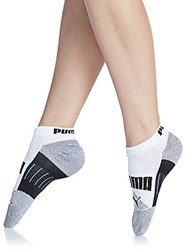 Puma Color Blocked Low Cut Anklet Socks 3 Pack White Trad