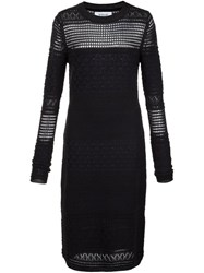 Derek Lam 10 Crosby Perforated Knitted Dress Black
