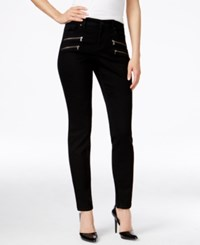 Styleandco. Style Co. Petite Zipper Pocket Black Rinse Wash Skinny Jeans Only At Macy's