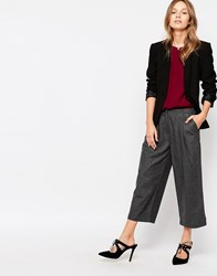 Minimum Klare Cropped Trousers 2146826246 Grey