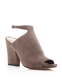 Via Spiga Prim Ankle Strap Peep Toe Booties Granite