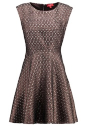 Derhy Antiquaire Cocktail Dress Party Dress Cognac