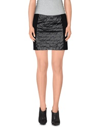 Space Style Concept Mini Skirts Black
