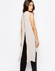 Love Split Back Tunic With High Neck Beige