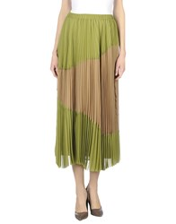 Alysi Skirts 3 4 Length Skirts Women Military Green