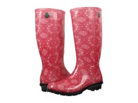 Ugg Shaye Bandana Racing Red Rubber Women's Pull On Boots Pink