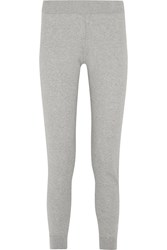 Richard Nicoll Cotton And Cashmere Blend Track Pants Gray