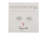 Dogeared Little Things Simple Knot Studs Silver Earring