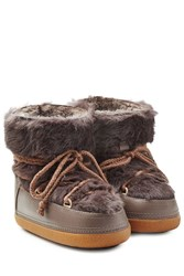 Inuikii Fur Ikkii Classic Low Boots Brown