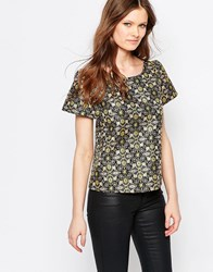 Traffic People Bonnie Top In Jacquard Black
