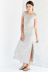 Bdg Heathered Off The Shoulder Maxi Dress Light Grey