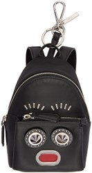 Fendi Black Mini Backpack Keychain