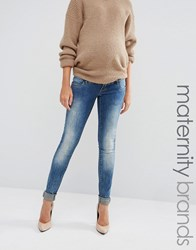 Mama Licious Mamalicious Over The Bump Slim Jeans Blue
