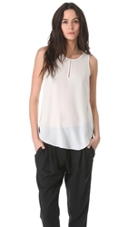 3.1 Phillip Lim Overlapped Side Seam Tank White