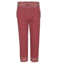 Isabel Marant Etoile Loli Cropped Cotton Trousers Red