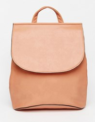 Asos Clean Curved Backpack Camel Brown