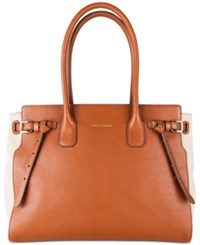Cole Haan Emery Canvas Satchel Neutral Woodbury