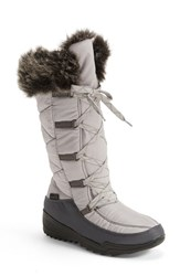 Kamik Women's 'Porto' Waterproof Winter Boot Grey Fabric