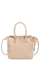 Valentino 'Rockstud Double Handle' Leather Tote
