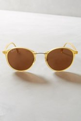 Anthropologie Ray Ban Light Ray Round Sunglasses Yellow One Size Eyewear