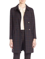 Theory Abla Tile Check Print Trench Coat