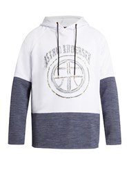 Astrid Andersen Logo Cotton Blend Jersey Hooded Sweatshirt White Multi