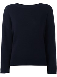 Roberto Collina Crew Neck Jumper Blue