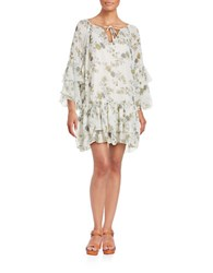 Free People Floral Peasant Dress White