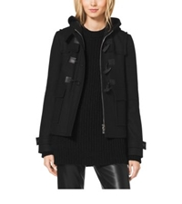 Michael Kors Melton Wool Toggle Coat Black