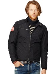 Ralph Lauren Denim And Supply Motorcycle Lined Jacket Polo Black