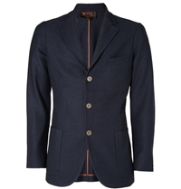 Loro Piana Cashmere And Silk Blend Unstructured Blazer Blue