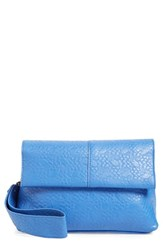 Poverty Flats By Rian Faux Leather Convertible Crossbody Bag Blue